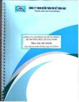 Báo cáo tài chính năm 2014 (đã kiểm toán) - Công ty Cổ phần Sách và Thiết bị trường học Quảng Ninh