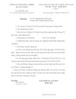 Báo cáo tài chính quý 3 năm 2014 - Công ty Cổ phần Sách và Thiết bị trường học Quảng Ninh