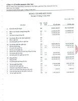 Báo cáo tài chính năm 2014 (đã kiểm toán) - Công ty Cổ phần Sadico Cần Thơ