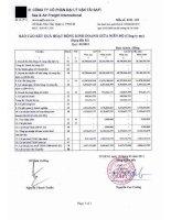 Báo cáo tài chính công ty mẹ quý 1 năm 2013 - Công ty Cổ phần Đại lý Vận tải SAFI