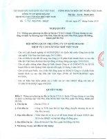 Nghị quyết Hội đồng Quản trị ngày 5-8-2010 - Công ty Cổ phần Kinh doanh Dịch vụ cao cấp Dầu khí Việt Nam