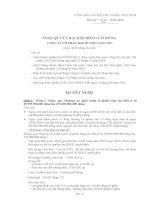 Nghị quyết đại hội cổ đông ngày 24-8-2010 - Công ty cổ phần Bao bì Nhựa Sài Gòn