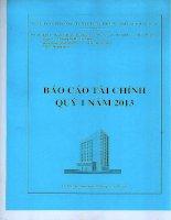 Báo cáo tài chính quý 1 năm 2013 - Công ty cổ phần Đầu tư Xây dựng Thương mại Dầu khí-IDICO