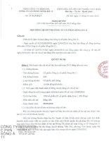 Nghị quyết Hội đồng Quản trị - Công ty Cổ phần Sông Đà 11