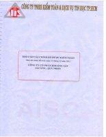 Báo cáo tài chính năm 2013 (đã kiểm toán) - Công ty Cổ phần Khoáng sản Sài Gòn - Quy Nhơn