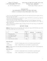 Nghị quyết đại hội cổ đông ngày 26-3-2010 - Công ty Cổ phần Xuất nhập khẩu Tổng hợp I Việt Nam