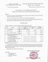 Nghị quyết Hội đồng Quản trị - Công ty Cổ phần Xuất nhập khẩu Quảng Bình