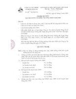 Nghị quyết Đại hội cổ đông thường niên năm 2009 - Công ty Tài chính cổ phần Sông Đà