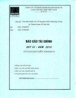 Báo cáo tài chính quý 3 năm 2015 - Công ty Cổ phần Kinh doanh Dịch vụ cao cấp Dầu khí Việt Nam