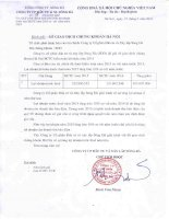 Báo cáo tài chính năm 2015 (đã kiểm toán) - Công ty Cổ phần Đầu tư và Xây lắp Sông Đà