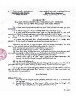 Nghị quyết Đại hội cổ đông bất thường ngày 06-06-2011 - Công ty Cổ phần Xuất nhập khẩu Thủy sản Miền Trung