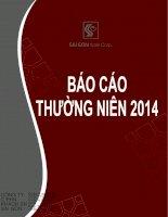 Báo cáo thường niên năm 2014 - Công ty Cổ phần Khách sạn Sài Gòn