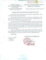 Báo cáo tài chính năm 2015 (đã kiểm toán) - Công ty cổ phần Đầu tư - Phát triển Sông Đà