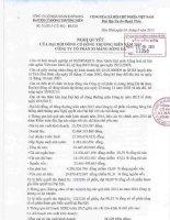 Nghị quyết Đại hội cổ đông thường niên - Công ty Cổ phần Xi măng Sông Đà