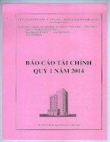 Báo cáo tài chính quý 1 năm 2014 - Công ty cổ phần Đầu tư Xây dựng Thương mại Dầu khí-IDICO