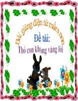 Bài giảng điện tử đề tài Thỏ con không vâng lời