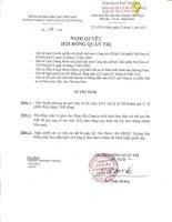 Nghị quyết Hội đồng Quản trị - Công ty Cổ phần Đầu tư và Phát triển giáo dục Phương Nam