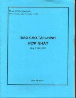 Báo cáo tài chính hợp nhất quý 2 năm 2011 - Công ty Cổ phần Kỹ Nghệ Lạnh