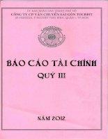 Báo cáo tài chính công ty mẹ quý 3 năm 2012 - Công ty cổ phần Vận chuyển Sài Gòn Tourist