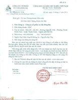 Báo cáo tài chính hợp nhất quý 3 năm 2014 - Công ty Cổ phần Tư vấn Sông Đà