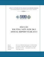 Báo cáo thường niên năm 2013 - Công ty Cổ phần Chứng khoán SAIGONBANK BERJAYA