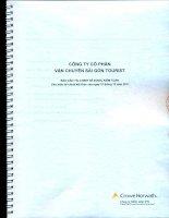 Báo cáo tài chính công ty mẹ năm 2011 (đã kiểm toán) - Công ty cổ phần Vận chuyển Sài Gòn Tourist