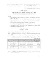 Nghị quyết đại hội cổ đông ngày 18-04-2009 - Công ty cổ phần Bao bì Nhựa Sài Gòn