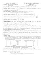 đề thi thử thpt quốc gia môn toán DE305 THPT châu văn liêm, cần thơ