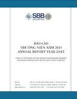 Báo cáo thường niên năm 2015 - Công ty Cổ phần Chứng khoán SAIGONBANK BERJAYA