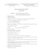 Báo cáo thường niên năm 2012 - Công ty Cổ phần Đầu tư Xây dựng và Phát triển Đô thị Sông Đà