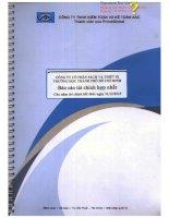 Báo cáo tài chính hợp nhất năm 2013 (đã kiểm toán) - Công ty Cổ phần Sách và Thiết bị trường học Tp. Hồ Chí Minh