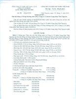 Nghị quyết Đại hội cổ đông thường niên năm 2012 - Công ty cổ phần Gang thép Thái Nguyên