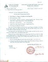 Báo cáo tài chính công ty mẹ quý 4 năm 2014 - Công ty Cổ phần Tư vấn Sông Đà