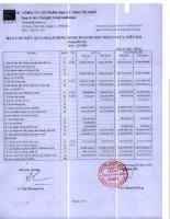 Báo cáo tài chính hợp nhất quý 3 năm 2009 - Công ty Cổ phần Đại lý Vận tải SAFI