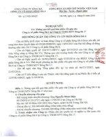 Nghị quyết Hội đồng Quản trị - Công ty Cổ phần Sông Đà 6