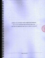 Báo cáo tài chính hợp nhất năm 2015 (đã kiểm toán) - Công ty Cổ phần Thủy điện Quế Phong