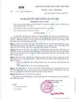 Nghị quyết Hội đồng Quản trị ngày 23-10-2010 - Công ty Cổ phần Khoáng sản Sài Gòn - Quy Nhơn