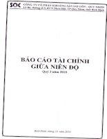 Báo cáo tài chính quý 3 năm 2010 - Công ty Cổ phần Khoáng sản Sài Gòn - Quy Nhơn