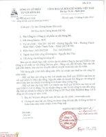 Báo cáo tài chính hợp nhất quý 2 năm 2014 - Công ty Cổ phần Tư vấn Sông Đà