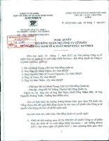 Nghị quyết Hội đồng Quản trị ngày 22-7-2011 - Công ty Cổ phần Hợp tác kinh tế và Xuất nhập khẩu SAVIMEX