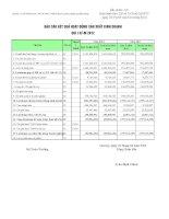 Báo cáo tài chính quý 1 năm 2012 - CTCP Đầu tư Xây dựng và Phát triển Hạ tầng Viễn thông