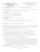 đề thi thử thpt quốc gia môn toán DE328 THPT trần ngọc hoàng, cần thơ
