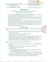 Nghị quyết Hội đồng Quản trị - Công ty cổ phần Chế tác Đá Việt Nam