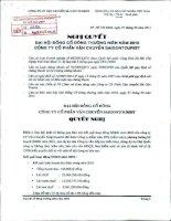 Nghị quyết Đại hội cổ đông thường niên năm 2011 - Công ty cổ phần Vận chuyển Sài Gòn Tourist