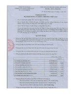 Nghị quyết Đại hội cổ đông thường niên năm 2011 - Công ty Cổ phần Giống cây trồng Miền Nam