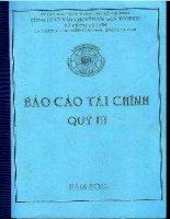 Báo cáo tài chính hợp nhất quý 3 năm 2013 - Công ty cổ phần Vận chuyển Sài Gòn Tourist