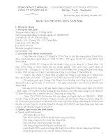 Báo cáo thường niên năm 2014 - Công ty Cổ phần Sông Đà 25
