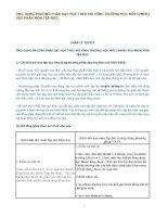 ỨNG DỤNG PHƯƠNG PHÁP dạy học THEO mô HÌNH TRƯỜNG học mới