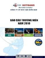 Báo cáo thường niên năm 2010 - Công ty Cổ phần Kho vận Miền Nam
