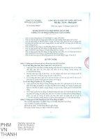 Nghị quyết Hội đồng Quản trị - Công ty Cổ phần Sông Đà Cao Cường